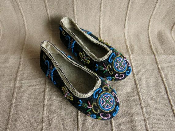 Vintage beaded children's shoes