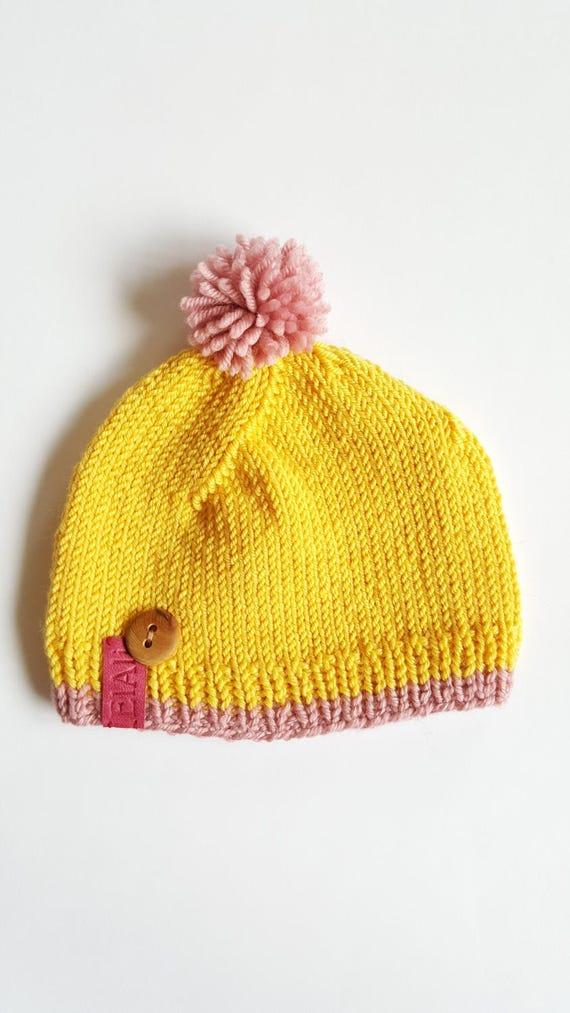 Knit baby hat newborn beanie photo prop newborn baby boy hat  bbf2e8d9389b