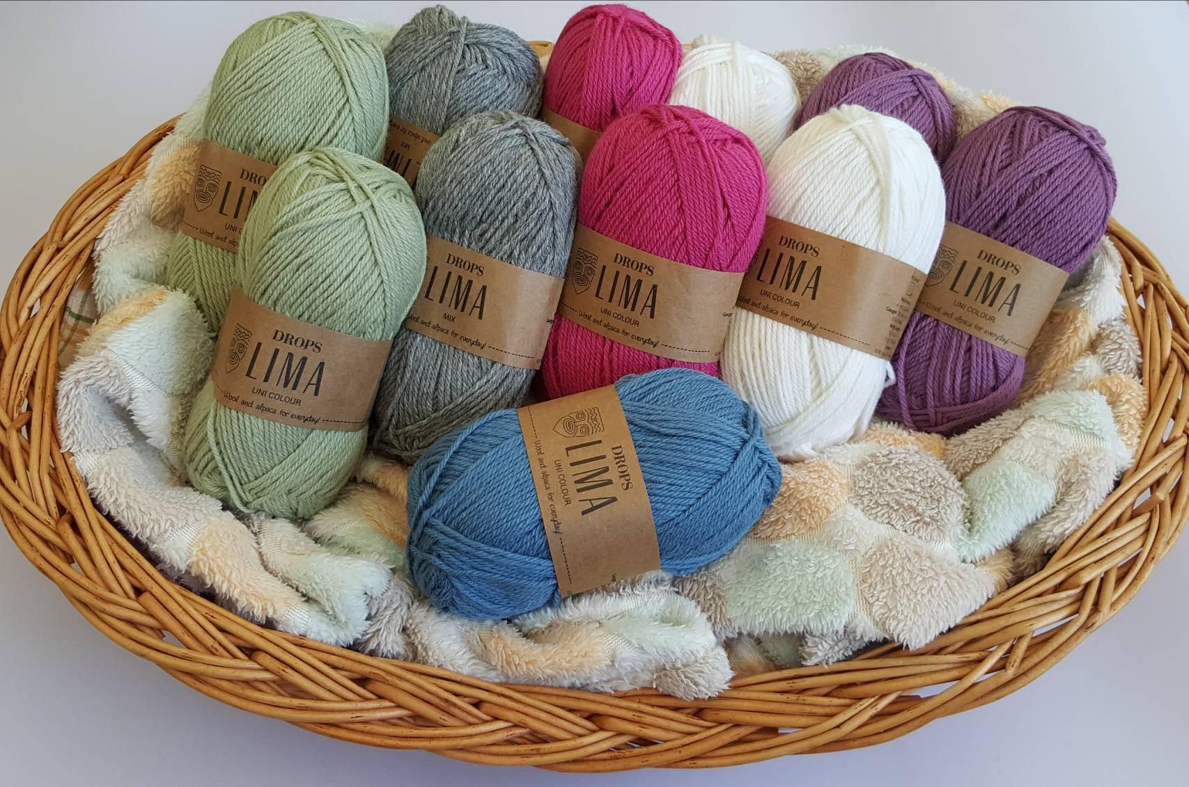 Garnstudio Drops Lima Alpaca/Wool DK-Weight Yarn DROPS yarn soft yarn wool  yarn alpaca yarn