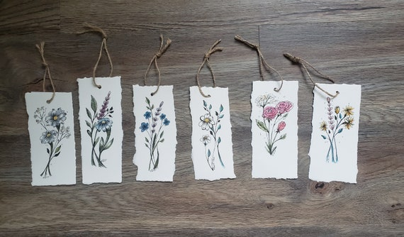 Hand Painted Bookmarks, Watercolour Bookmarks, Hand Drawn, Back to school