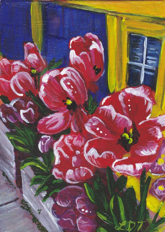 Small Acrylic Painting, Unframed artwork, Folk art