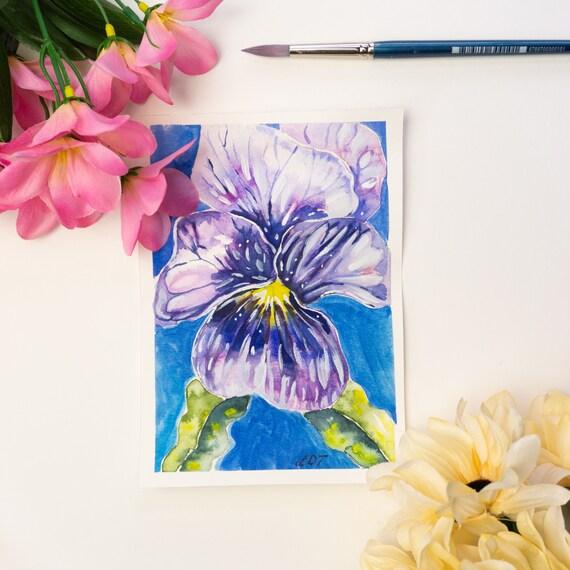 Flower painting, Original painting, original illustration, Watercolor painting, flower décor, cute home décor