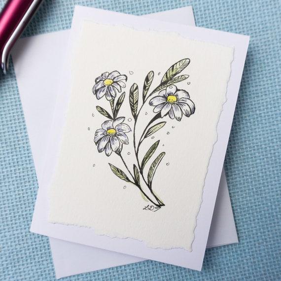 Watercolor greeting Card/ Blank inside
