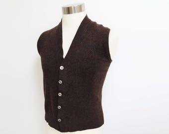 Vintage Vest, 1960s, Menswear, 36 inches, Vintage Man, Gift For Men, Vintage Menswear, Men's Vest, Men's Waistcoat, Wool Vest, Hipster