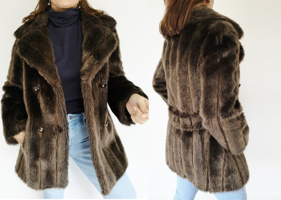 Fur Coat, Small, Faux Fur Coat, Fake Fur Coat, Wom