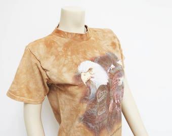 Vintage T-Shirt, Eagle, 90s T-Shirt, Ladies Clothing, Vintage Clothing, Festival Clothing, Eagles, Birds, Boho Top, T-Shirt