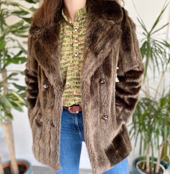 Fur Coat, Small - Med, Faux Fur Coat, Fake Fur Coa