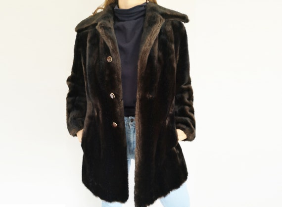 Faux Fur Coat, UK12, Fur Coat, Vintage Clothing, V
