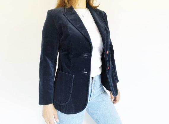 Blue Velvet Jacket, Medium, Women's Velvet Jacket,