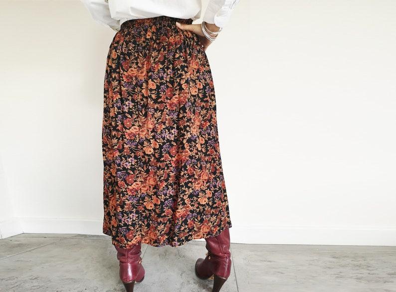 Boho Floaty Skirt Amber Skirt Peasant Skirt Vintage Clothing UK12 Amber Skirt Grunge Skirt Gypsy Skirt Floral 90s Vintage Skirt