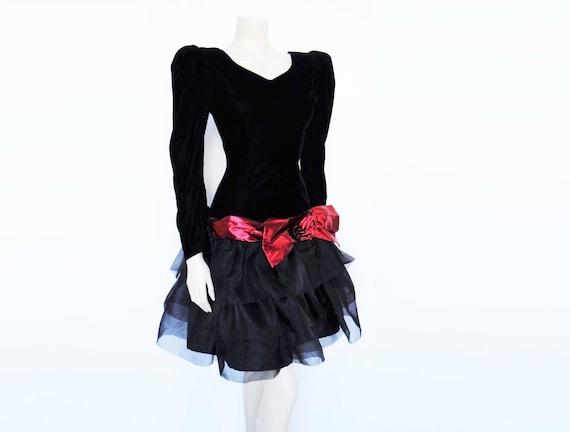 Retro Dress Bradshaw Velvet Black Vintage Dress UK8 Dress Dress Carrie Clothing Retro Vintage Womenswear Vintage Prom 10 Ladies 6dw6Ax