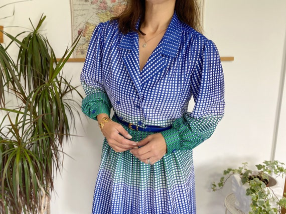 1960s Vintage Dress, UK16, Spotty Dress, True Vint