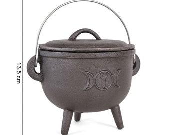 Cast-cast cauldron Triple Moon 15cm