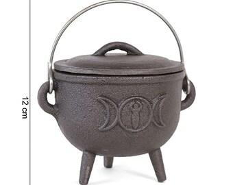 Cast-sheet cauldron Triple Moon 11cm