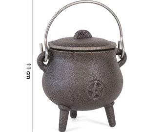Pentagram cast-sheet cauldron 7.5cm