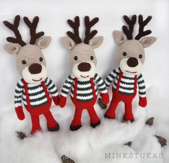 Häkeln Weihnachten Rentier Rudolf Weihnachten Geschenk Für Etsy