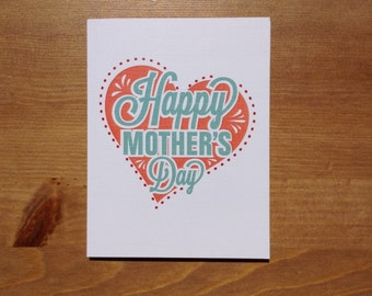 """Mothers' Day Card - """"Happy Mother's Day"""" + """"I love how you don't need to say out loud that I'm your favorite"""""""