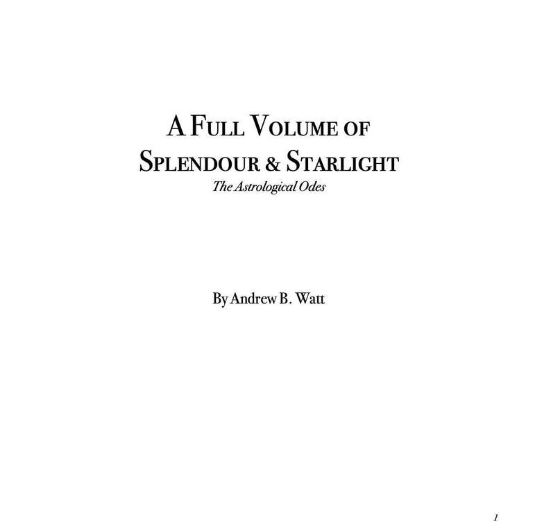 A Full Volume of Splendour & Starlight image 0