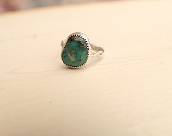 Turquoise Nugget ~ Sterling Silver ~ Size 7