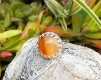 Carnelian and Sterling Ring