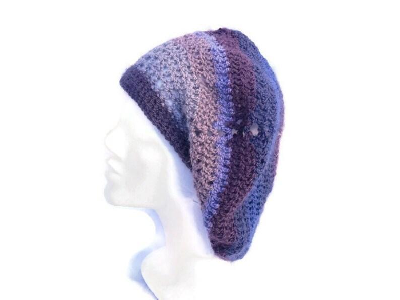 Cappello Di Lana Alluncinetto Crochet Beret Slouchy Etsy