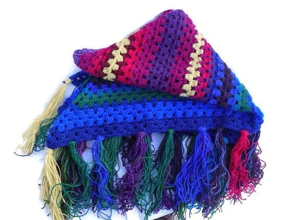 Häkeln Sie Wolle Schal helle Farbe Schal stricken | Etsy
