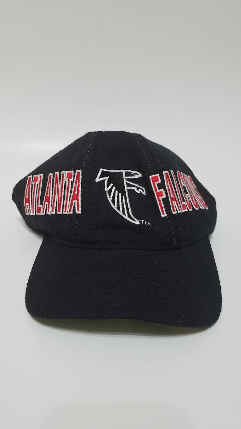 33a6028a Vintage 90s Kids/Womens Atlanta Falcons NFL Stater Brand Black Snapback Cap