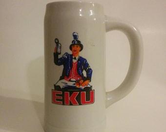 Vintage Eastern Kentucky University Colonels Ceramic Mug/Stein KY EKU Barware Drinkware Kitchen Decor