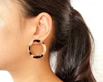 5ea71c303 Abigail Light Ivory Tortoise Stud Earrings, Tortoise Shell Earrings, Tortoise  Shell Stud Earrings, Acetate Post Earring, Dainty Stud Earring
