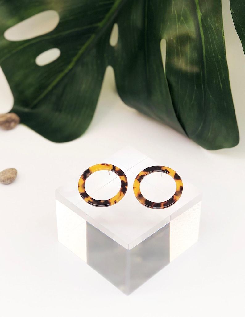 Dainty Stud Earrings Tortoise Stud Earrings Tortoise Shell Stud Earrings Acetate Stud Earrings Abigail Dark Gold Tortoise Shell Earrings