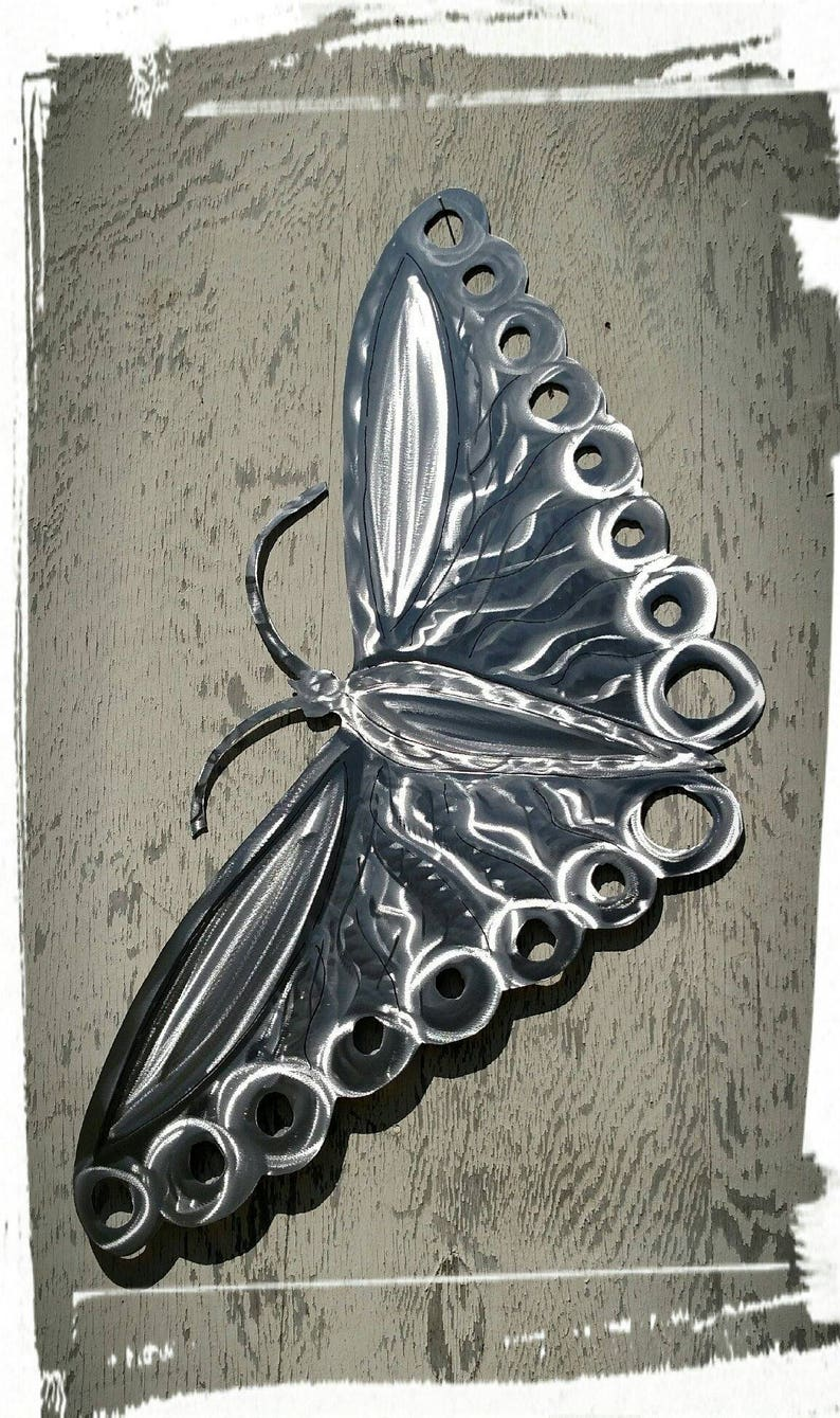 Plasma cut butterfly Metal wall art decor ETSY handmade custom metal signs  unique design wall hanging aluminum made to order