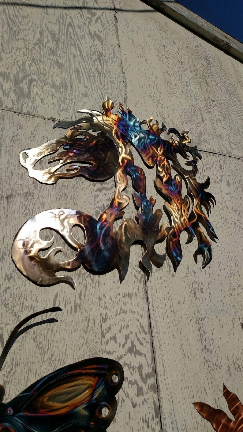 Horse Head Large Metal Wall Art 32 16g Thick Steel Torched Outdoor Wall Decor Custom Orders Available Made In Idaho