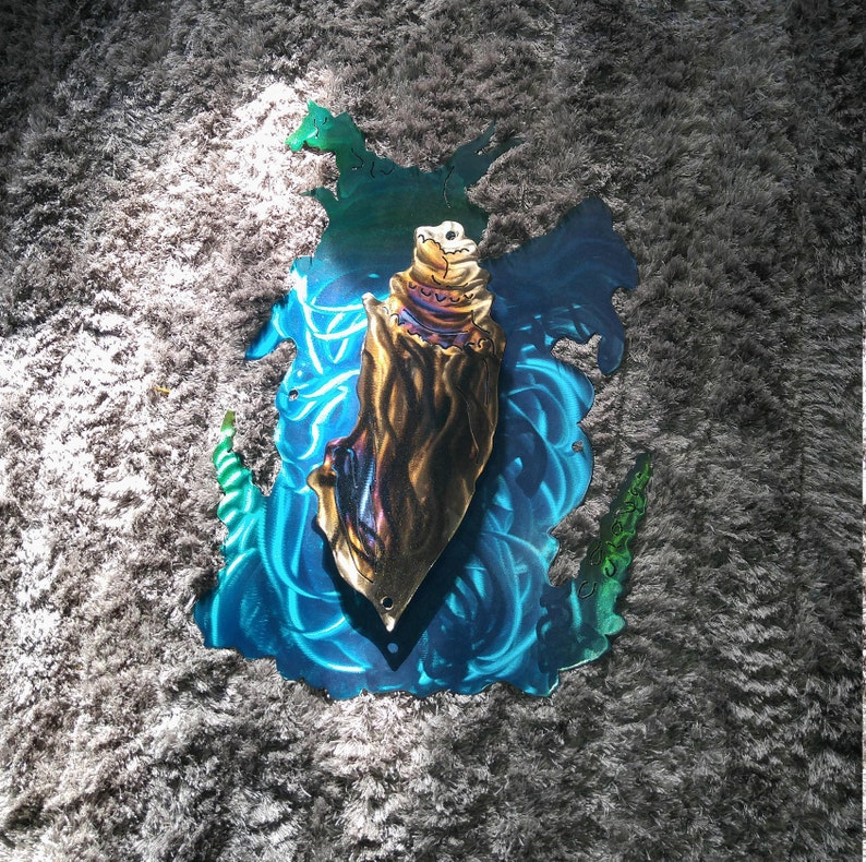 Elegant beach decor gift Giant metal sea shell ETSY ...