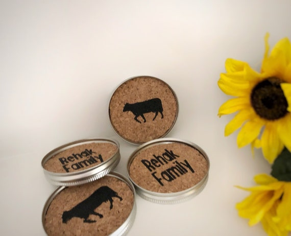 Custom Farmhouse Coasters, Set of 4