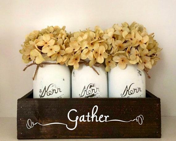 Gather Mason Jar Table Centerpiece