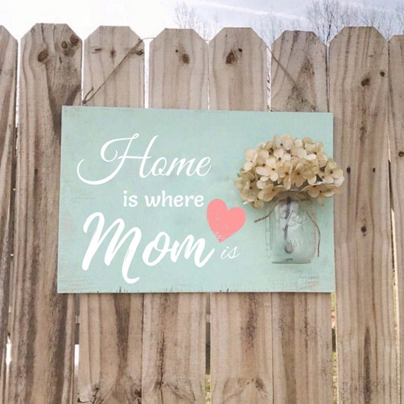 Home is Where Mom Is Sign, Mothers Day Gift
