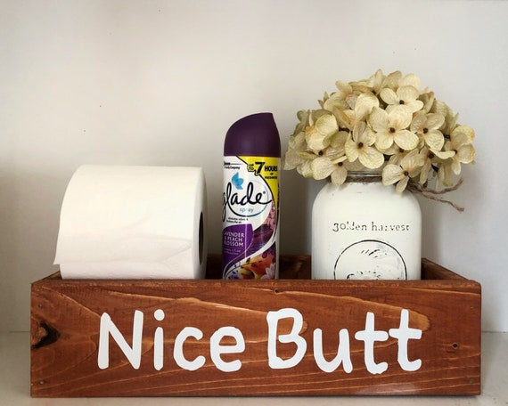 Nice Butt Bathroom Box, Rustic Toilet Paper Holder