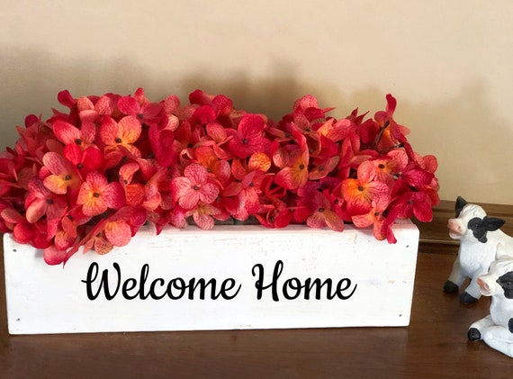 Welcome Home Floral Planter Box, Real Estate Closing Gift