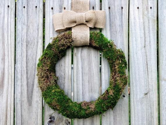 "Rustic Moss Wreath, 11.5"" diameter"