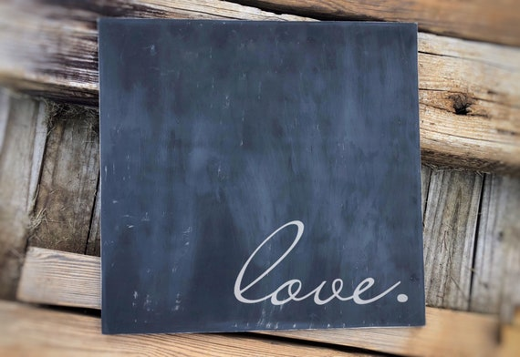 Master Bedroom Wall Decor, Love Sign, Above the Bed Sign, Romantic Wall Art, Farmhouse Sign, 21x21 inches