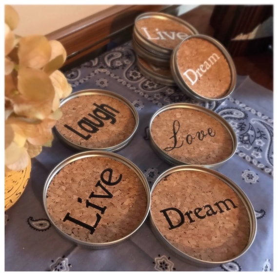 Live Love Laugh Dream Coasters, Set of 4 Coasters