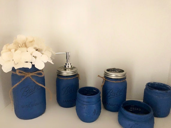 6 Piece Mason Jar Bathroom Set