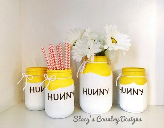 Set of 4 White Hunny Pots