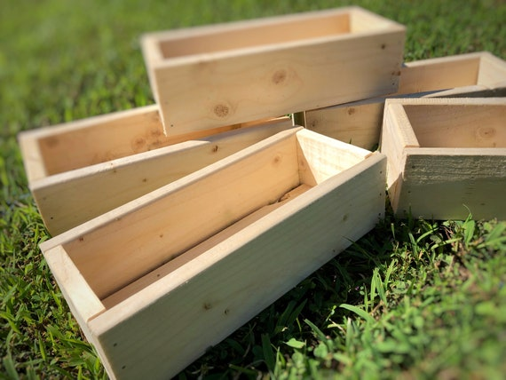Set of 5 Rustic Planter Boxes