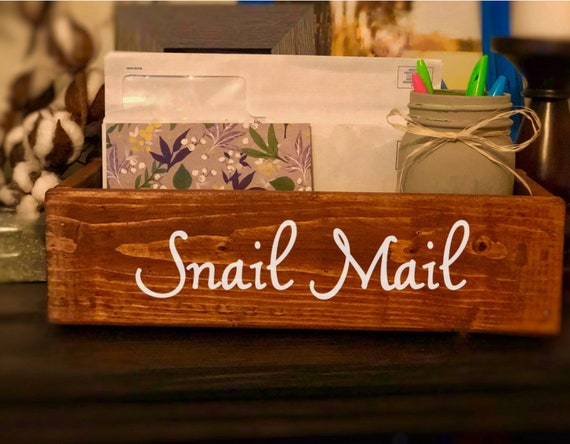 Rustic Mail Holder, Snail Mail Box