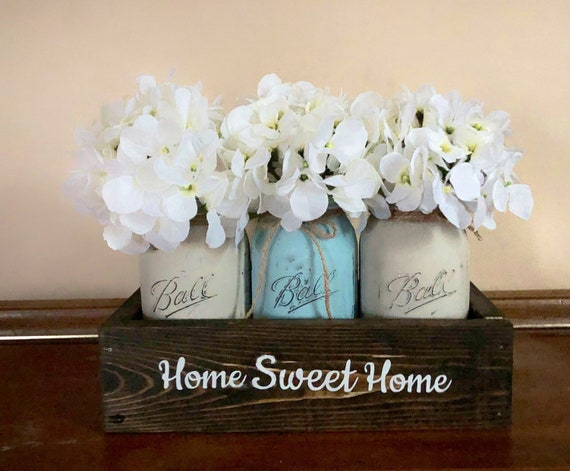 Home Sweet Home Mason Jar Centerpiece