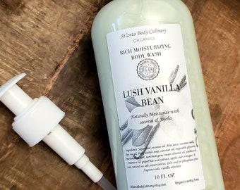 18 oz Organic Body Wash liquid body wash vegan body wash moisturizing body wash non-drying body wash