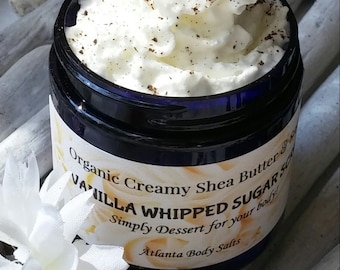 Vanilla Bean Whipped Sugar Scrub organic body scrub organic sugar scrub everything vanilla vegan sugar scrub