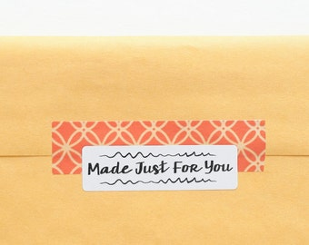 Made For You Tag - Gift Stickers - Printable Stickers - Made Just For You - Handmade Tags - Made For You Sticker - Packaging Stickers