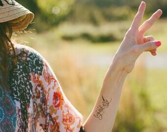 Unicorn Temporary Tattoo - Unicorn Tattoo - Temporary Tattoos - Typography Tattoo - Unicorn Gift - Mantra Tattoo - Inspirational Gift